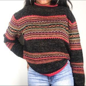 Tiara Fair Isle Chunky Pullover Sweater